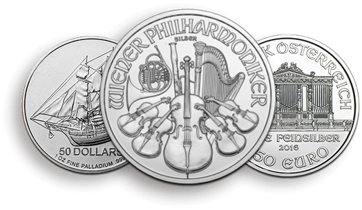 Palladium Silver Münzen
