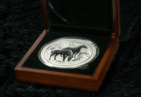 Pferd Silber Muenze
